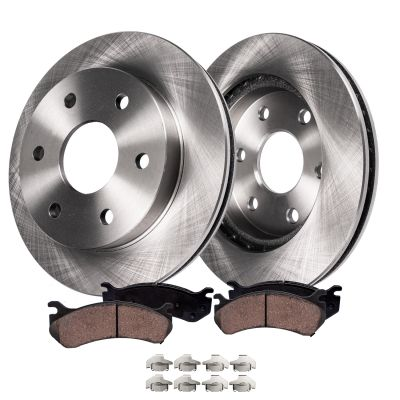 Front Brakes and Rotors Kit - Cadillac, Chevy, GMC models - R-55097BK