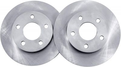 Pair (2) 11.02' (280mm) FRONT DISC Brake Rotors for 5-Lug 2013-2017 Nissan Sentra