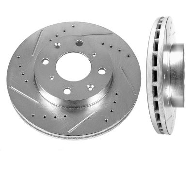 Front Disc Brake Rotors - 240mm Size - Drilled and Slotted
