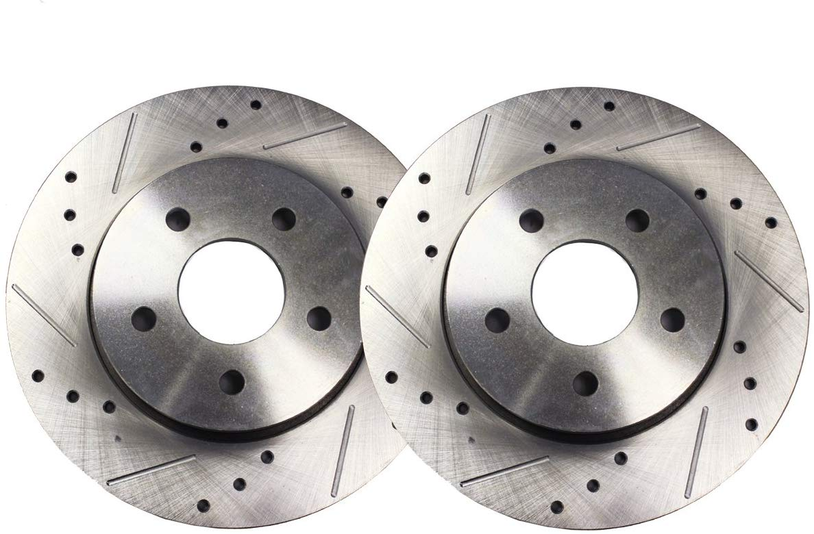 Front Drilled And Slotted Brake Disc Rotor Fits ES300 Avalon Camry Sienna Solara