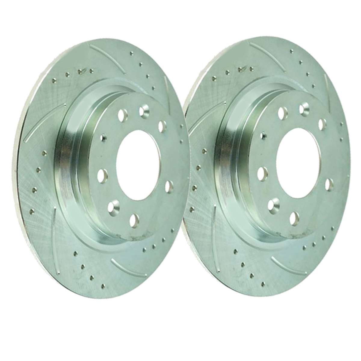 Rear Drilled and Slotted Brake Rotors – Performance Grade