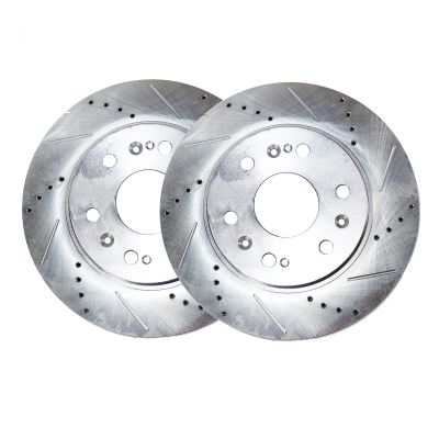 Rear Disc Brake Rotors - V8 5.6L - Drilled and Slotted
