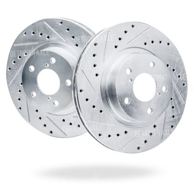 Front Drilled & Slotted Brake Rotor - 2003-10/2005 Infiniti FX35, FX45