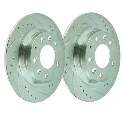 Front Disc Brake Rotors - 11.81 inch Size - Drilled and Slotted
