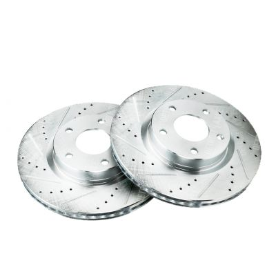 296mm Front Drilled & Slotted Brake Rotors - Nissan, Infiniti - See Fitment