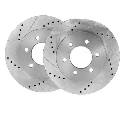 296mm Front Drilled Slotted Brake Rotor - 05-15 Nissan, Suzuki - See Fitment