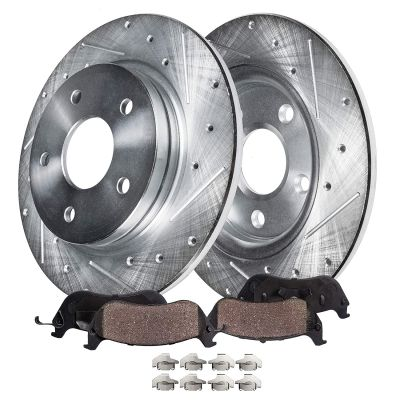 Rear Drill Brake Rotors Ceramic Pads for Lexus Toyota Models