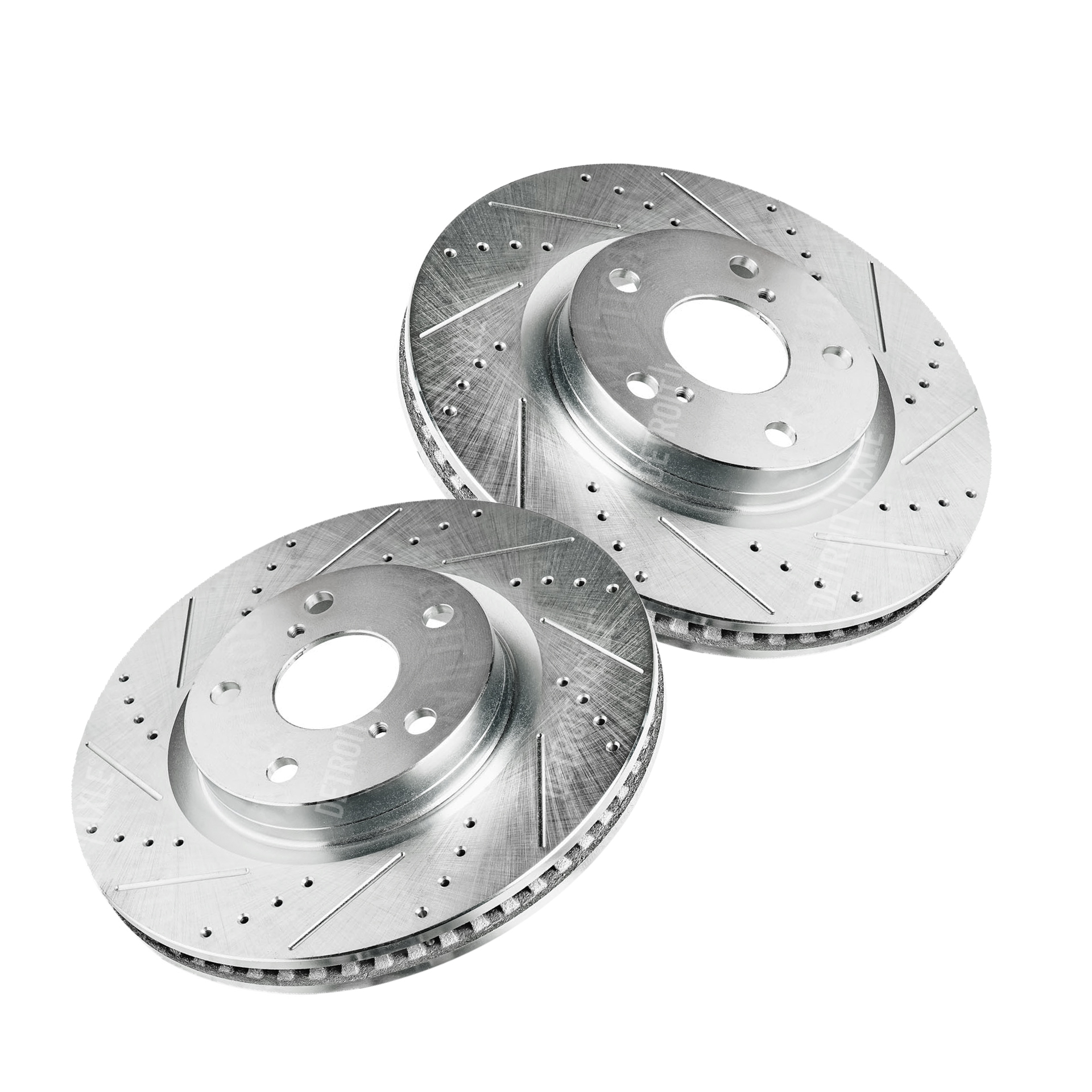 Front Drilled & Slotted Brake Rotors–#S-31434