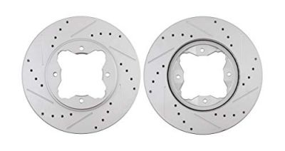 Front Disc Brake Rotors - 10.24 inch Size, Check Fitment - Drilled and Slotted