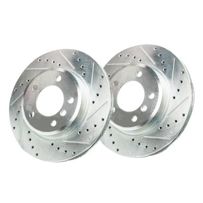 300mm Front Drilled & Slotted Brake Rotors for BMW 328i 323i – See Fitment