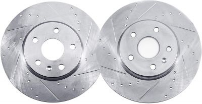 Rear Drilled & Slotted Brake Rotors for 300mm Size Models – See Fitment