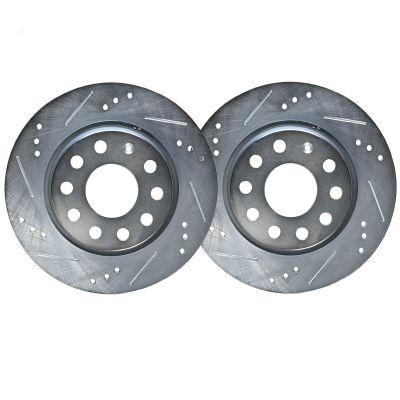 Rear Drilled & Slotted Brake Rotors - 272mm Size Models – See Fitment