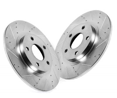 Rear Disc Brake Rotors - with Rear Disc Brakes - Drilled and Slotted