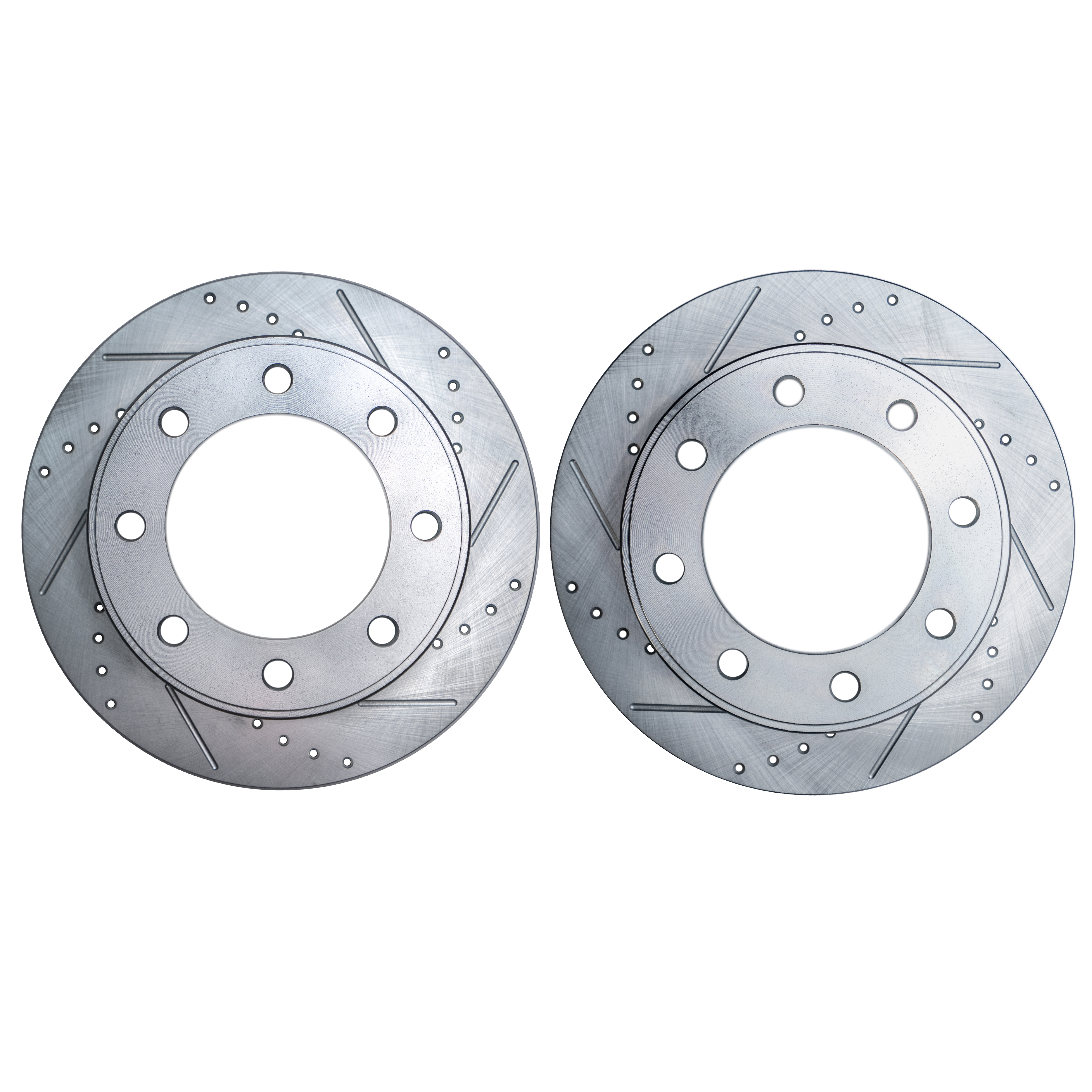 Pair (2) (331mm) Drilled & Slotted FRONT Brake Rotors for 4WD