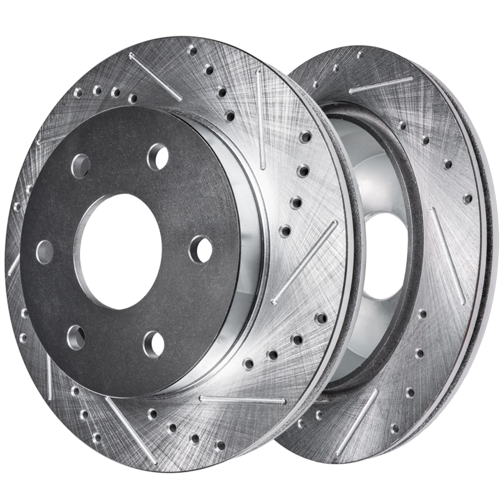 Front Drilled and Slotted Brake Rotors 4WD #S-54109-Ford/Lincoln