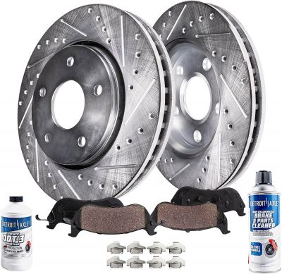 Front Drilled Brake Rotor & Pad for Ford Mazda Mercury - See Fitment