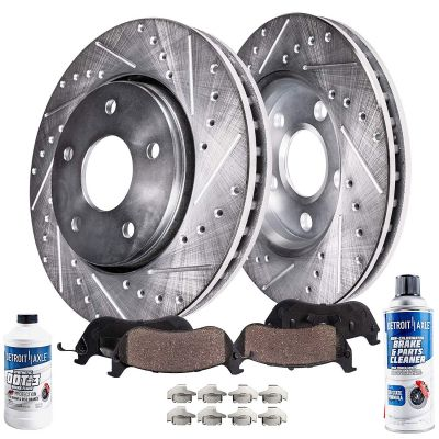 Prix Trans Sport REAR Drilled and Slotted Brake Rotors for Century Regal Impala Monte Carlo Venture 277mm Front 10.94 Front Alero Intrigue Grand AM Montana Detroit Axle