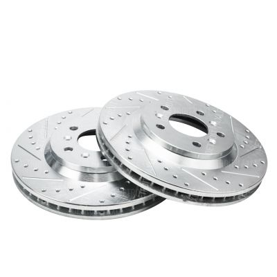 Front Disc Brake Rotors - 11.92inch Size, Check Fitment - Drilled and Slotted