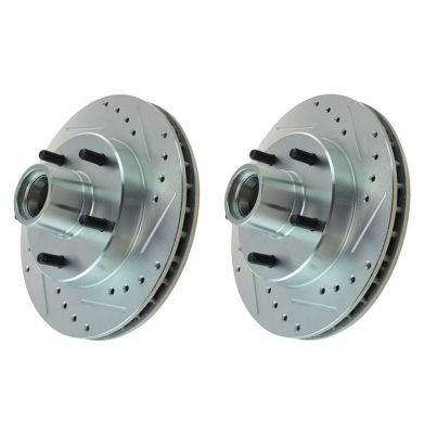 """Pair (2) 10.5"""" (267mm) FRONT Drilled and Slotted Brake Rotors for 2WD S10/S15 & Blazer/Jimmy"""