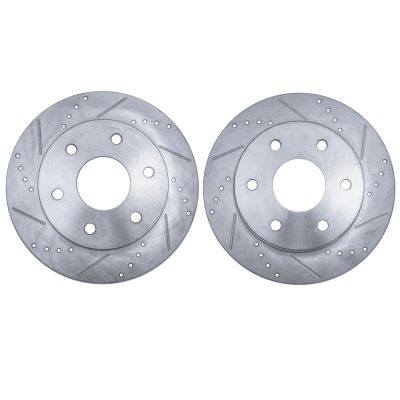 295mm Detroit Axle 11.61 FRONT Drilled and Slotted Brake Rotors for 2WD Chevy C1500 Express Suburban Tahoe GMC C1500 Savana Suburban Van Yukon