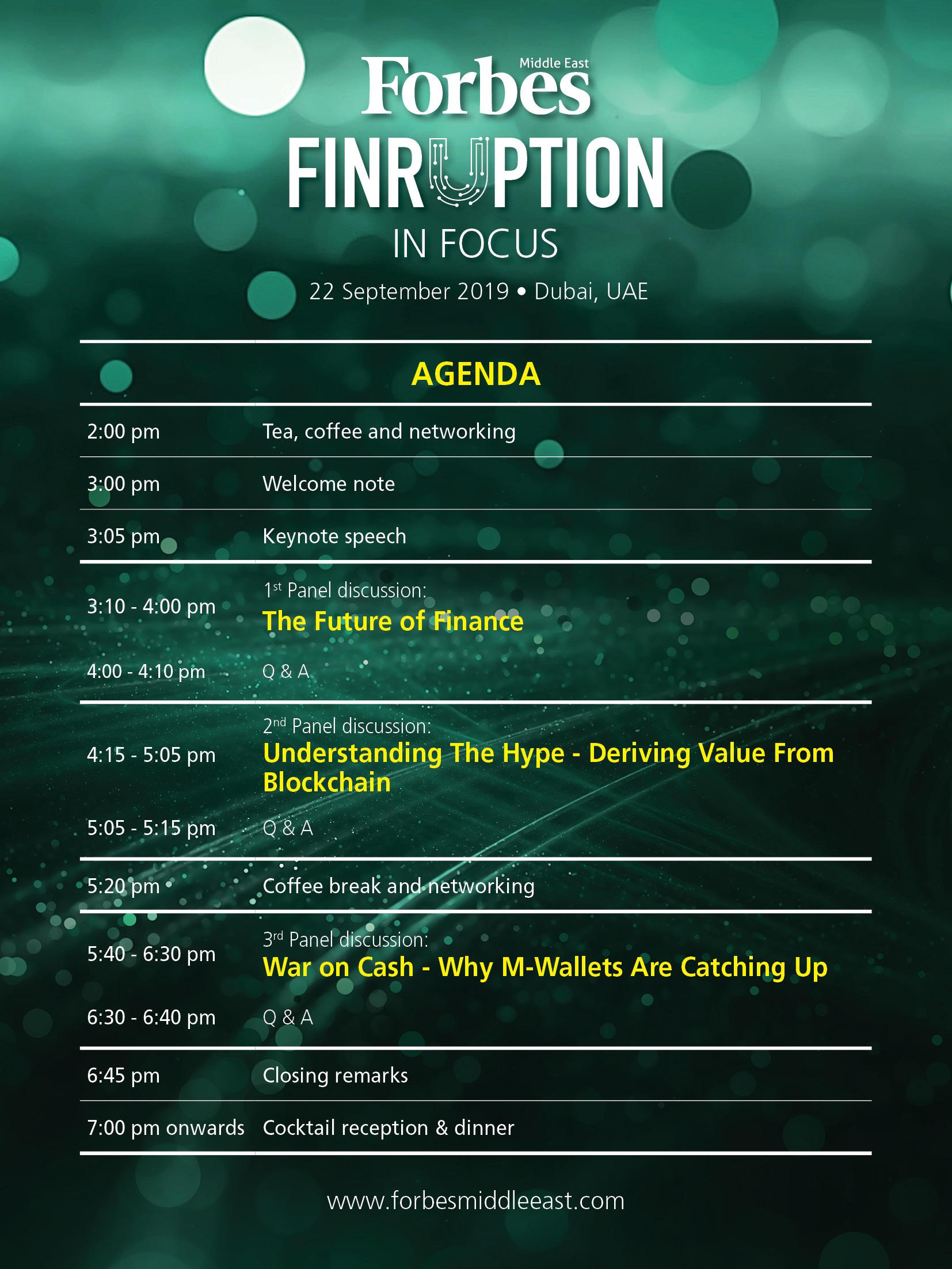 Agenda - Fintech - 2019