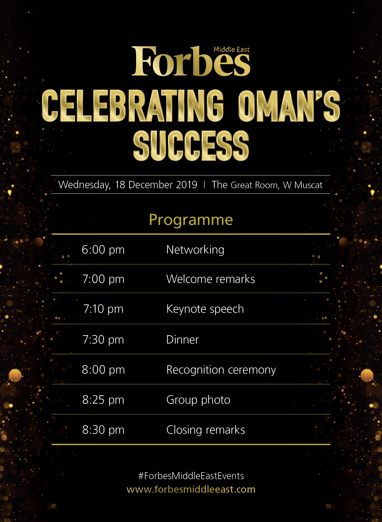 Agenda - Celebrating Oman's Success