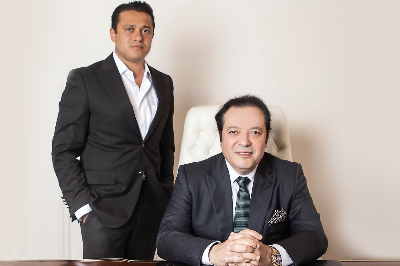 Hassan Morshedy with his father and the company's founder Mohamed Morshedy