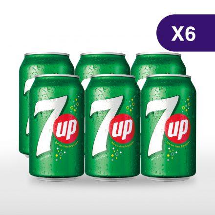 7UP - 6 latas de 355ml