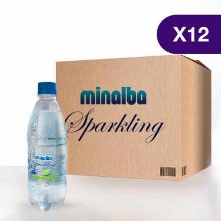 Agua Gasificada Minalba Sparkling Limón - Caja de 12 unidades de 500ml