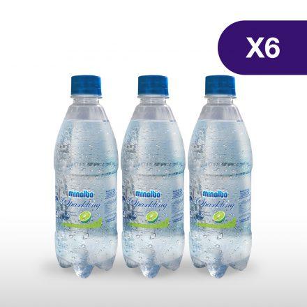 Agua Gasificada Minalba Sparkling Limón - 6 unidades de 500ml