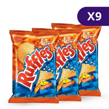 Ruffles® Queso - 9 unidades de 125g