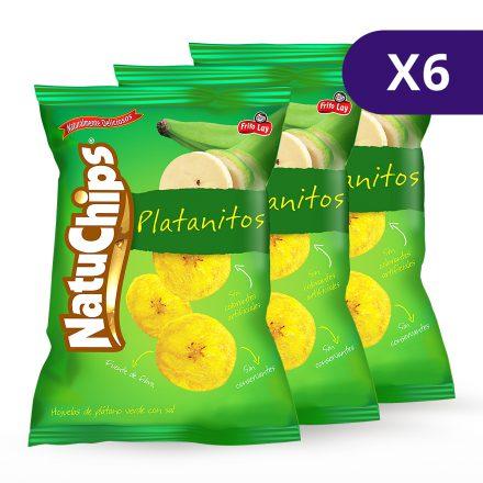 Natuchips® Platanitos Natural - 6 unidades 300g