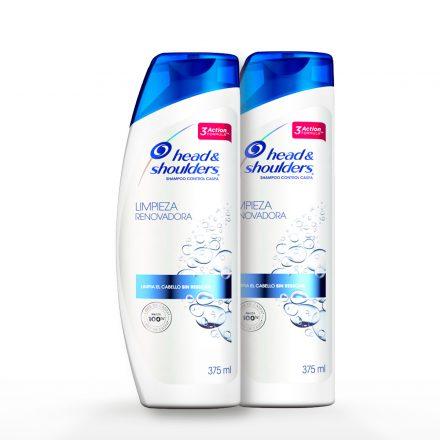 Head & Shoulders® Shampoo Limpieza Renovadora - 2 unidades de 375 ml