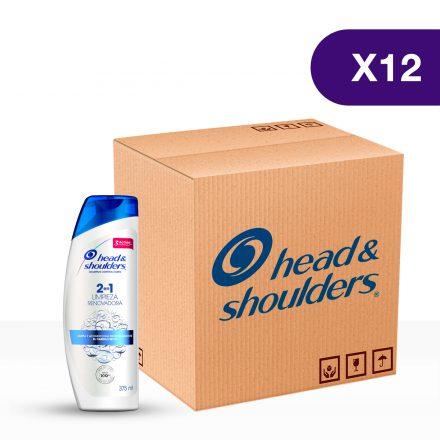 Head & Shooulders® Shampoo 2en1 Limpieza Renovadora - Caja de 12 unidades de 375 ml
