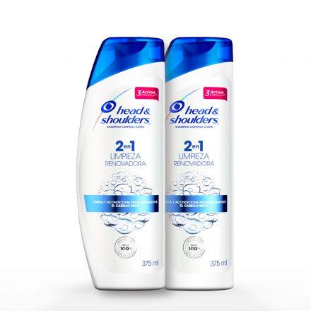 Head & Shooulders® Shampoo 2en1 Limpieza Renovadora - 2 unidades de 375 ml