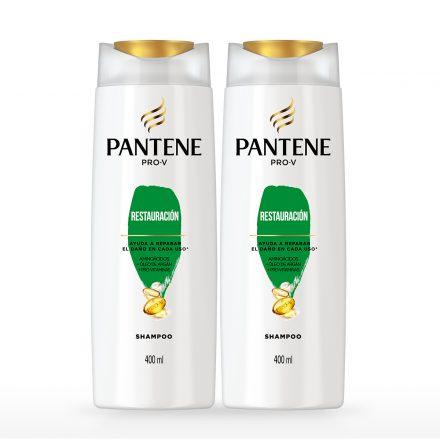 Pantene Shampoo Restauración - 2 unidades de 400 ml