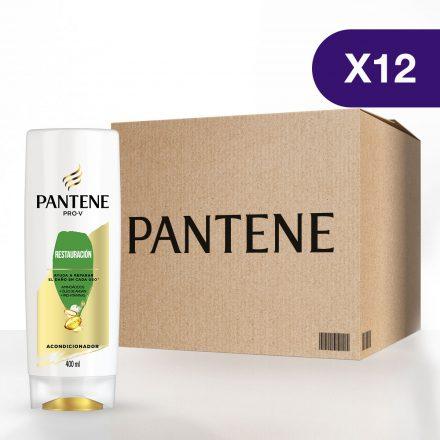 Pantene Acondicionador Restauración - Caja de 12 unidades de 400 ml