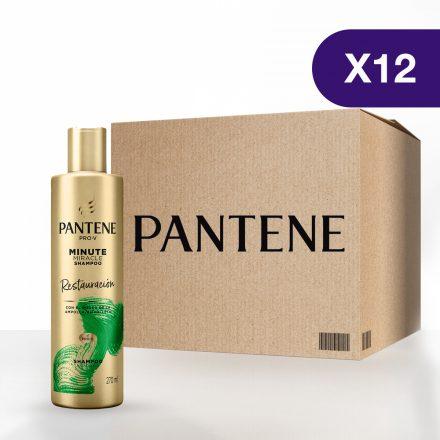 Pantene Shampoo Minute Miracle Restauración - Caja de 12 unidades de 270 ml