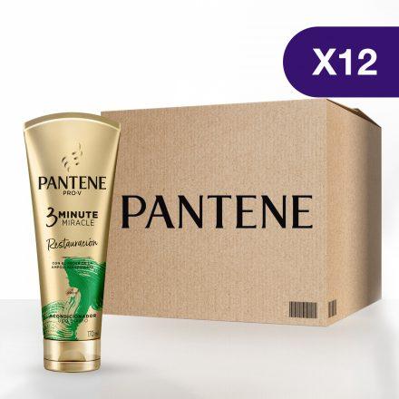 Pantene 3 Minute Miracle Restauración - Caja de 12 unidades de 170 ml