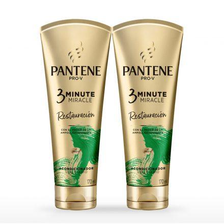 Pantene 3 Minute Miracle Restauración - 2 unidades de 170 ml