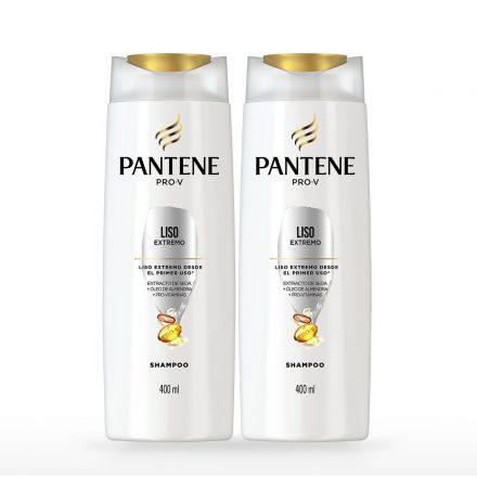Pantene Shampoo Liso Extremo - 2 unidades de 400 ml