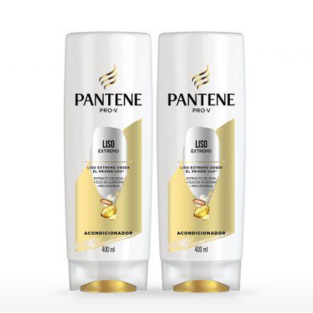 Pantene Acondicionador Liso Extremo - 2 unidades de 400 ml