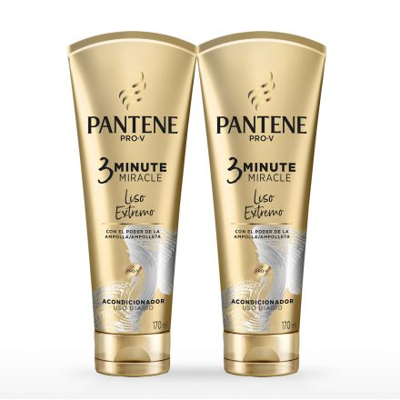 Pantene 3 Minute Miracle Liso Extremo - 2 unidades de 170 ml