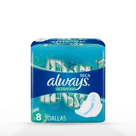 Toallas Sanitarias Always Ultrafina Día - 8 unidades