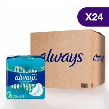 Toallas Sanitarias Always Ultrafina Día - 24 paquetes de 8 unidades