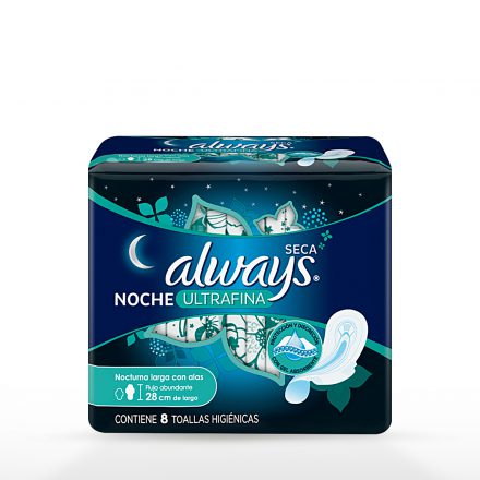 Toallas Sanitarias Always Ultrafina Noche - 8 unidades