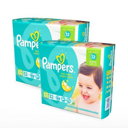 Pañales Pampers Juegos & Sueños - 2 paquetes Talla XXG
