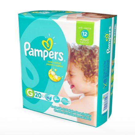 Pañales Pampers Juegos & Sueños - Paquete de 20 unidades Talla G