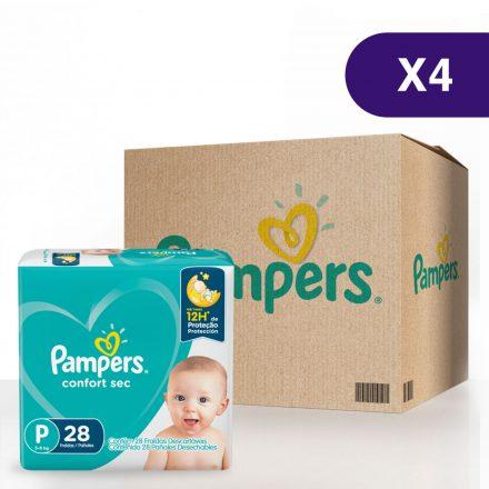 Pañales Pampers® Confort Sec™ - Caja de 4 paquetes Talla P