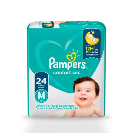 Pañales Pampers® Confort Sec™ - Paquetes de 24 unidades Talla M